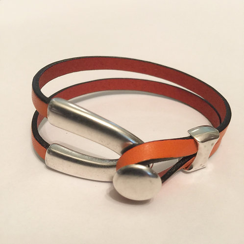 Orange with Silver Wishbone