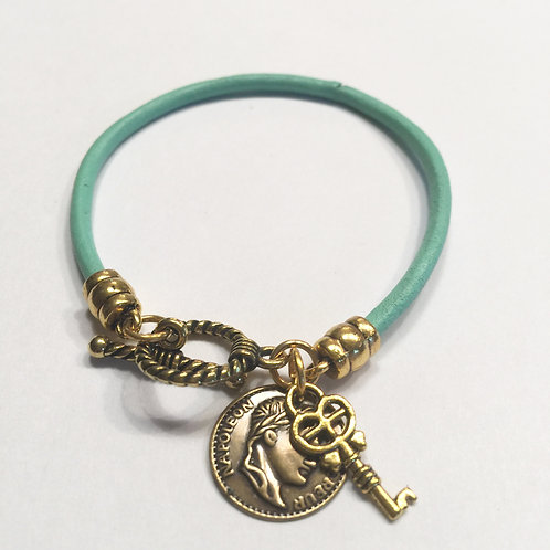 3mm Turquoise Toggle with Charms