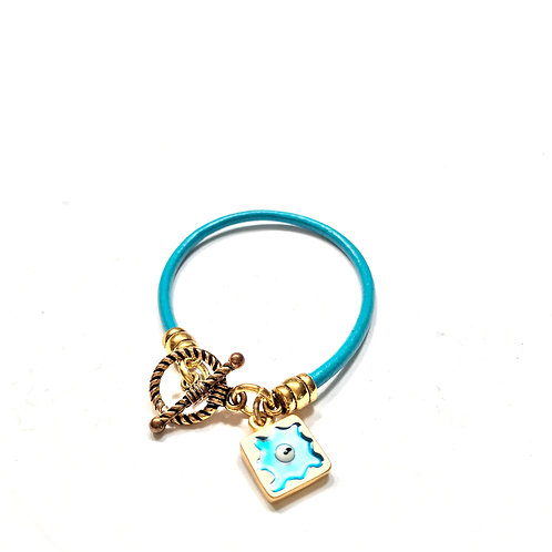 Turquoise with Gold Charms