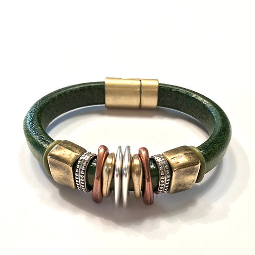 Olive Regaliz with Copper, Gold and Silver Spacers