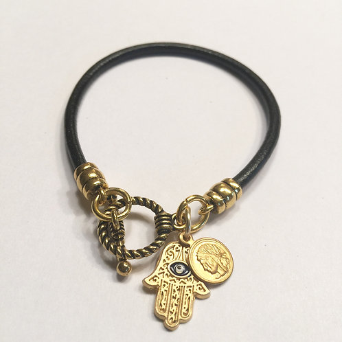 Black Toggle with Charms