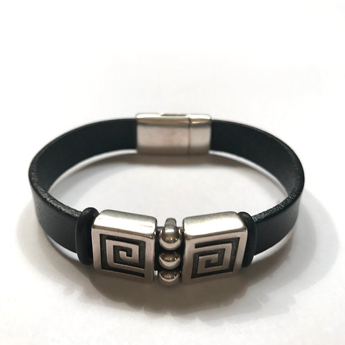 10mm Black with Silver Spacers