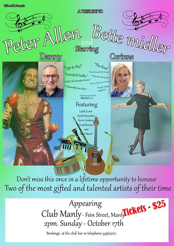 Peter Allen Bette Milder promo poster.png