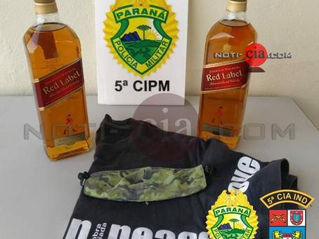 Policiais militares prendem dupla por furto de garrafas de Whisky em mercado de Cianorte