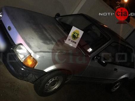 Bandido furta carro na Zona 2 em Cianorte, mas PM age rápido e recupera veículo