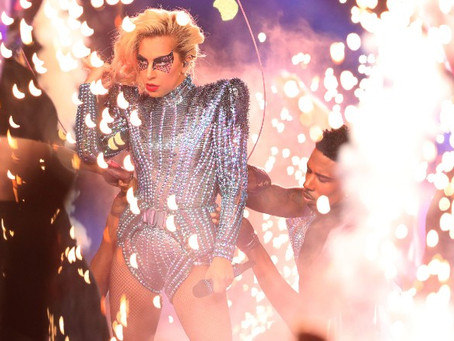 LADY GAGA WAS THERE FOR A GOOD TIME NOT A DEEP TIME AT THE SUPERBOWL HALF TIME