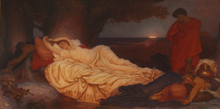 Artist: Lord Frederic Leighton (1830) Title: Cymon and Iphigenia