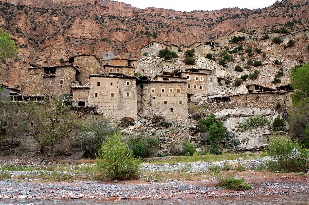 Tessaout Valley; Berber village; High Atlas; M'Goun; Morocco; village