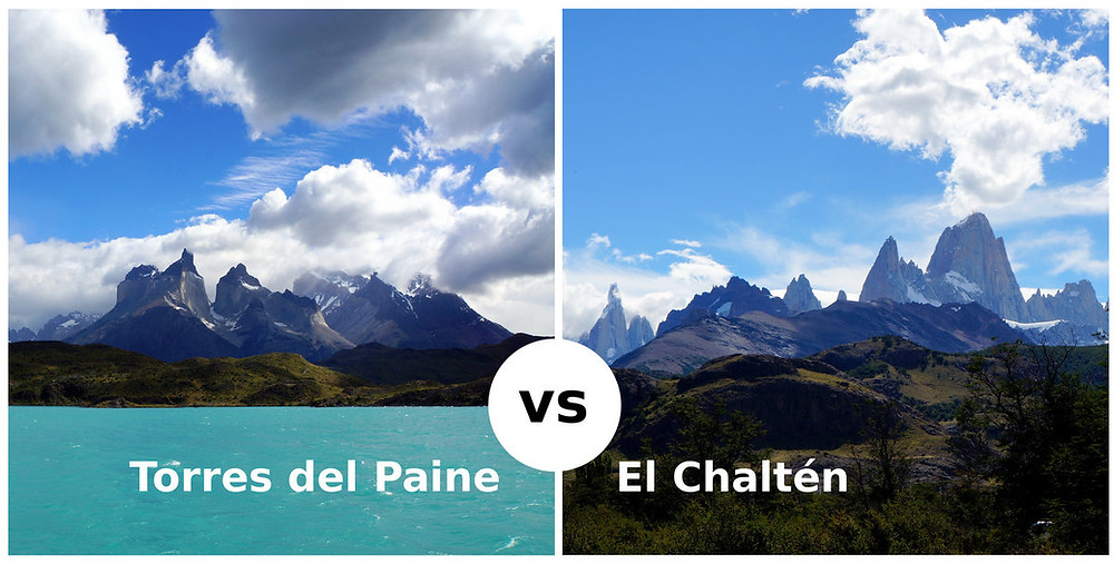 Torres del Paine vs El Chaltén, Fitz Roy, Cerro Torre
