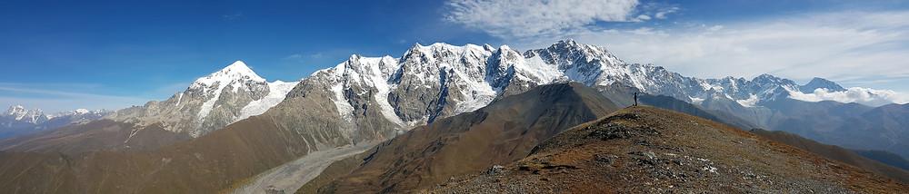 Chkhunderi pass Mestia to Ushguli, Tednuldi, Great Caucasus, Transcaucasian Trail