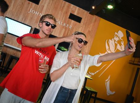 Celebrities en el Highball Bar de Johnnie Walker durante las semis