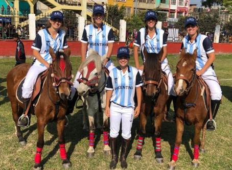 Las chicas de Argentina ya juegan en Manipur