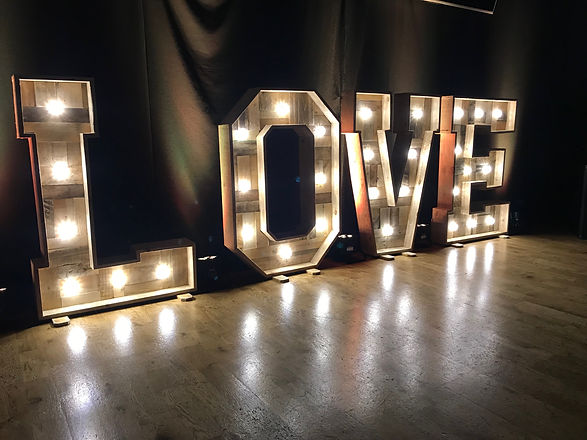 Rustic LED LOVE Letters Rob Lawes Entert