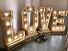 Rustic LOVE letters Rob Lawes Entertainm