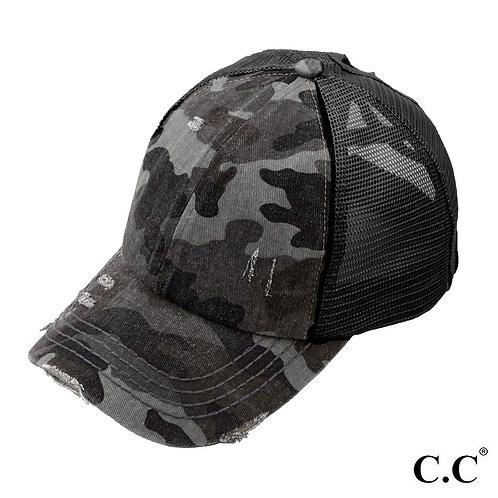 Criss-Cross Ponytail Hat