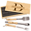 Thumbnail: 3-Piece BBQ Set in Wooden Pine Box