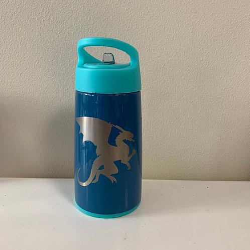 Swig 12 oz Flip N Sip Water Bottle - Blue Dragon