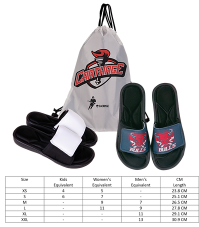 Slides with Size Chart And Drawstring Ba
