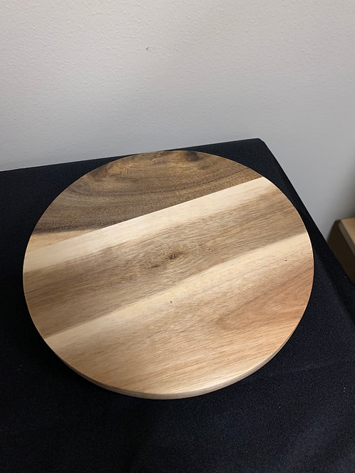 "9"" Acacia Wood Turntable"