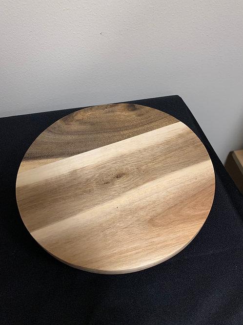 """9"""" Acacia Wood Turntable"""