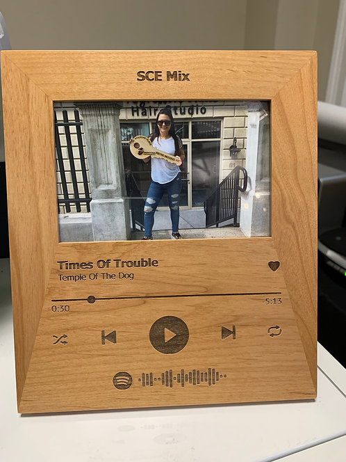 """Playlist & """"Song Player"""" 4x6Picture Frame"""