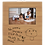 Thumbnail: 4x6 Leatherette Bamboo Print Picture Frame with Large Engraving Surface