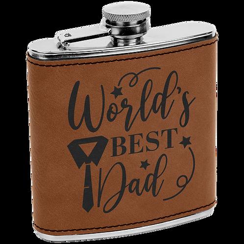 6 oz Leatherette Flask