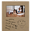 Thumbnail: 4x6 Leatherette Light Brown Picture Frame with Large Engraving Surface