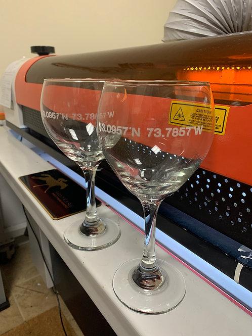 Stemmed Wine Glasses (set of 2)