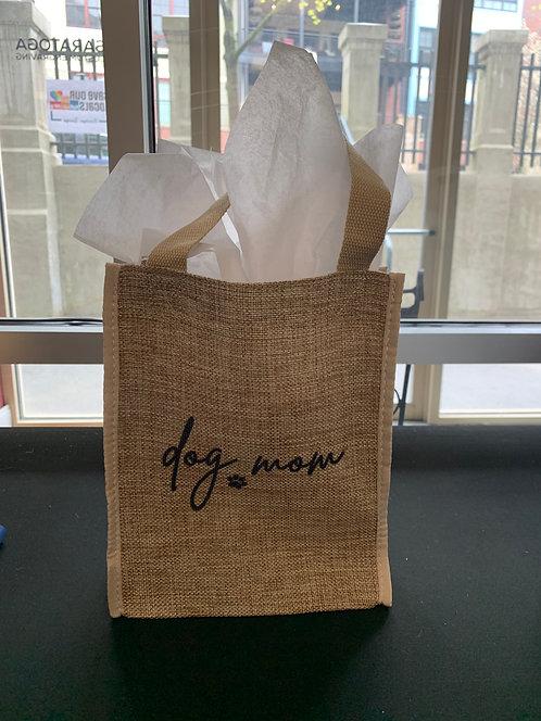 """8""""x10"""" Burlap Gift Bag - Pre-printed"""
