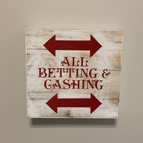 Saratoga All Betting & Cashing Sign
