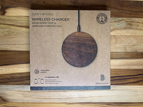 Oakywood Wireless Charging Pad in Walnut