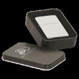 Chrome Lighter with Black Tin