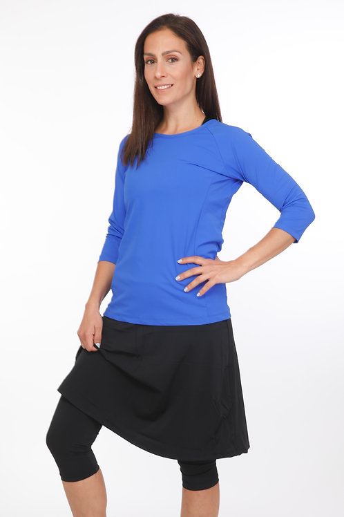 5 Piece Swim Set -  Blue Shirt with skirt