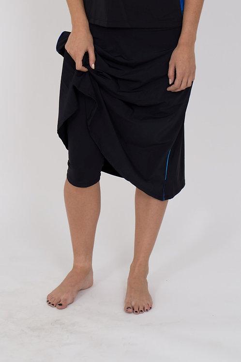 Flowy Midi Skirt, with leggings