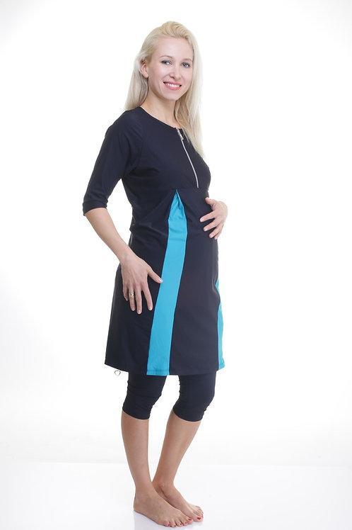 בגד ים וספורט צנוע סט טוניקה להריון ולהנקה