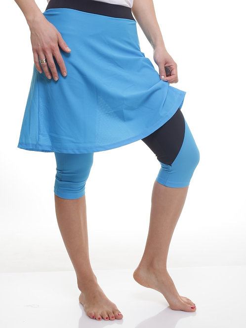 טייץ חצאית לספורט עם חצאית מעל לברך