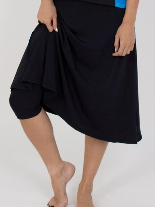 Long Swim Skirt With Leggings Attached