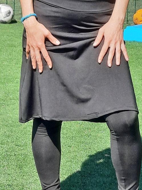 טייץ ארוך עם חצאית עד הברך
