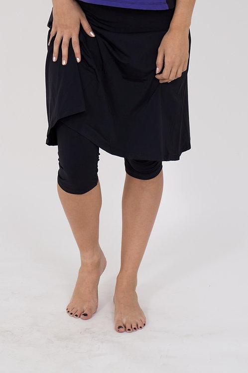 Flowy knee Length Skirt with leggings