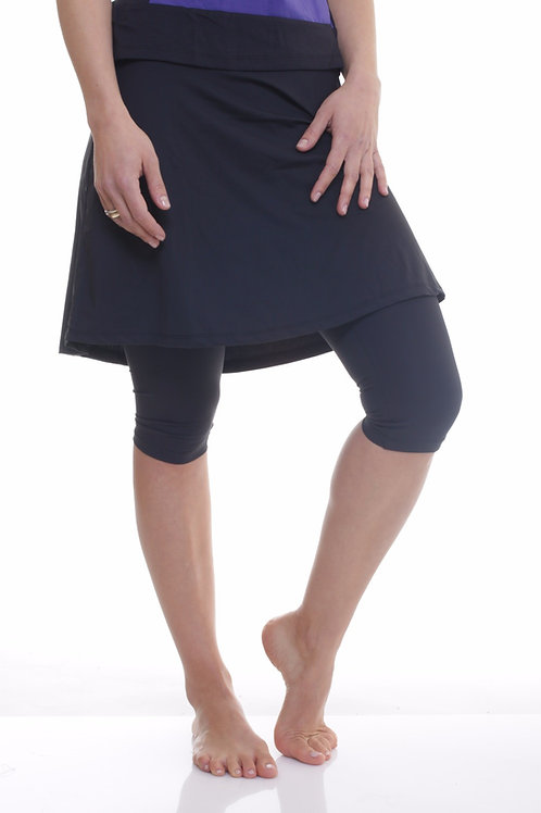 Flowy above the knee Swim & Sport Skirt with Leggings Attached