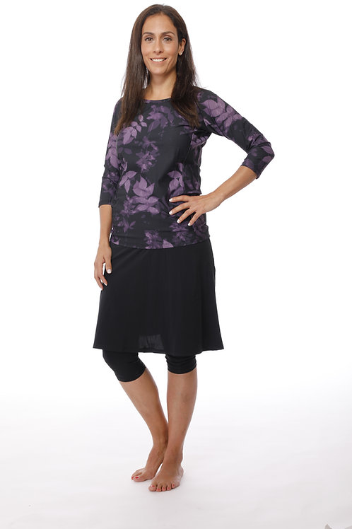 5 Piece Swim Set -  All Printed Shirt with skirt