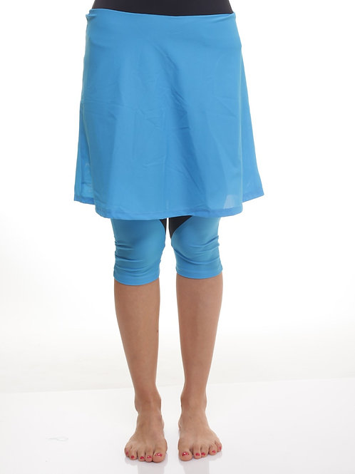 Flowy above the knee Sport Skirt with Leggings Attached