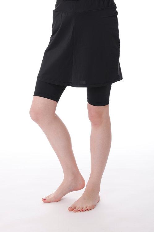 טייץ קצר עם חצאית קצרה בשחור או כחול נייבי