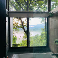 Feel the magic of taking a shower in the middle of the trees