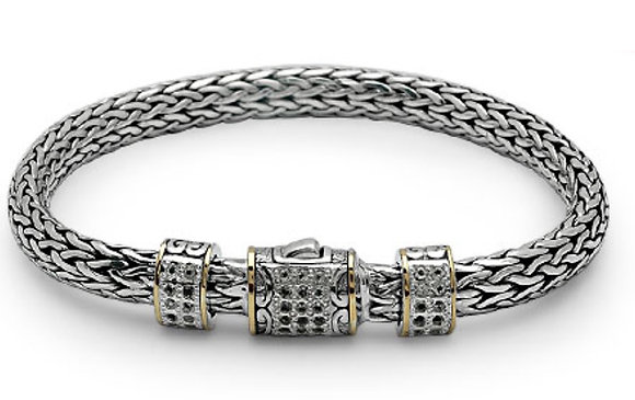 Dragon Bone 5X7 White Topaz Bracelet
