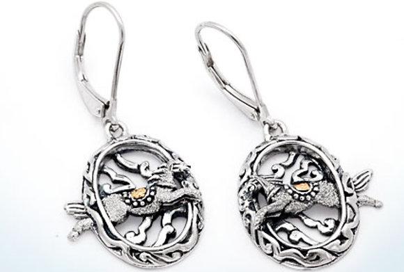 Horse Collection Mega Mendung Dangle Earrings