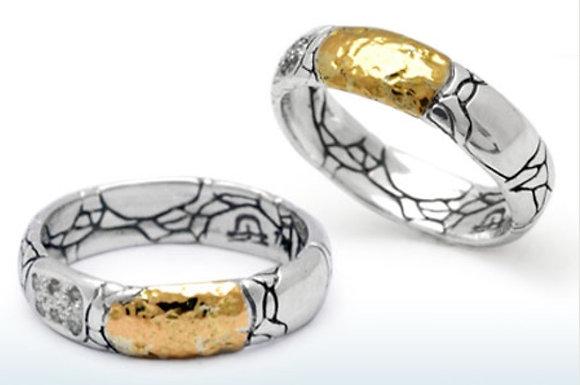 Crocodile Motif Band Ring