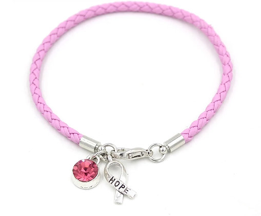 PINK BRACELET WITH TWO CHARMS