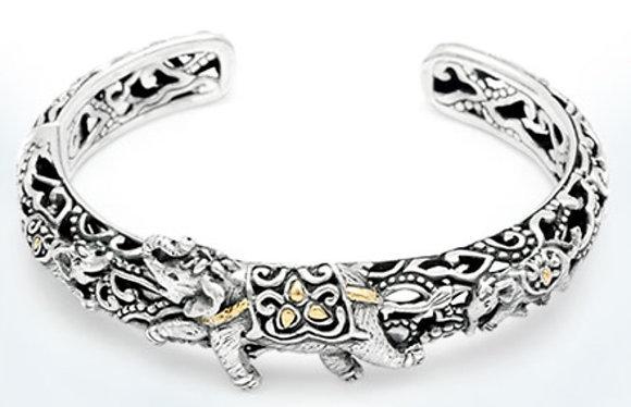 Elephant Kick Cuff Bracelet